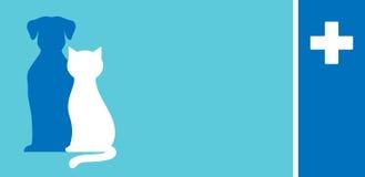Carte de visite professionnelle de visite vétérinaire de soin Photos libres de droits