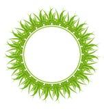Carte de vivacité de source avec l'herbe illustration de vecteur