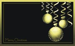 Carte de voeux élégante d'affaires de Noël Images libres de droits