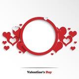 Carte de voeux abstraite du jour de Valentine Image stock