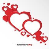 Carte de voeux abstraite du jour de Valentine Images libres de droits