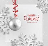 Carte de voeux abstraite de Noël de vecteur images libres de droits
