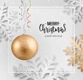 Carte de voeux abstraite de Noël de vecteur photographie stock libre de droits