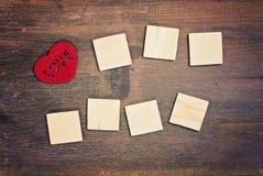 Carte de voeux - amour Photographie stock