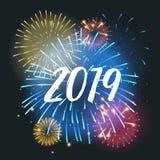 Carte de voeux de 2019 ans illustration stock