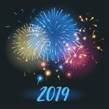 Carte de voeux de 2019 ans illustration libre de droits