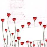 Carte de voeux au jour de rue Valentine Photos libres de droits