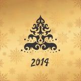 Carte de voeux avec 2014 Photos stock