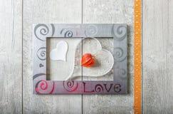 Carte de voeux avec amour Photo libre de droits