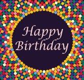 Carte de voeux avec des bulles - joyeux anniversaire Image stock
