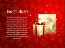 Carte de voeux avec des cadeaux Photos libres de droits