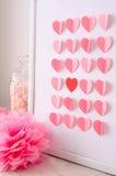 Carte de voeux avec des coeurs pour le jour de Valentines Photos libres de droits