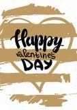 Carte de voeux avec des félicitations le jour A4 de valentines de St Vecteur Photo stock