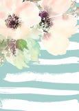 Carte de voeux avec des fleurs Photographie stock