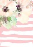 Carte de voeux avec des fleurs Images libres de droits
