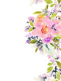 Carte de voeux avec des fleurs Image stock