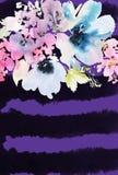 Carte de voeux avec des fleurs Photo libre de droits