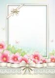 Carte de voeux avec des fleurs Photos libres de droits