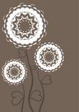 Carte de voeux avec des fleurs. Cru. Photos libres de droits