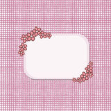 Carte de voeux avec des fleurs de dessin animé Image libre de droits