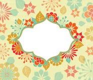 Carte de voeux avec des motifs floraux Photo stock