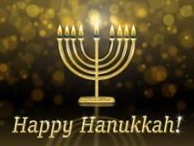 Carte de voeux avec l'inscription - Hanoucca heureux