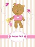 Carte de voeux avec l'ours de nounours Photos stock