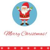carte de voeux avec la bande dessinée Santa Claus Vecteur Photo libre de droits