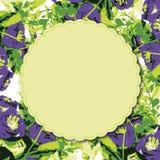 Carte de voeux avec la carte d'invitation d'aquarelle de roses Photos stock