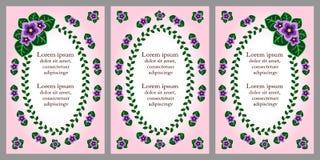 Carte de voeux avec la décoration florale Images libres de droits