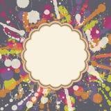 Carte de voeux avec la tache colorée Photos libres de droits