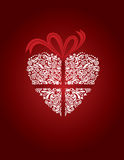 Carte de voeux avec le coeur décoratif Illustration Stock