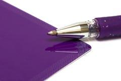 Carte de voeux avec le crayon lecteur Photo libre de droits