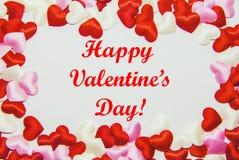 Carte de voeux avec le jour du ` s de Valentine Photographie stock libre de droits