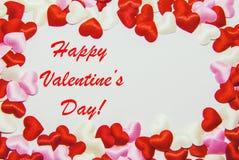 Carte de voeux avec le jour du ` s de Valentine Images stock