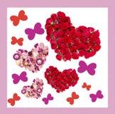 Carte de voeux avec les coeurs colorés Photographie stock