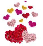 Carte de voeux avec les coeurs colorés Photographie stock libre de droits
