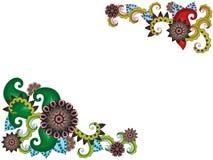 Carte de voeux avec les fleurs stylisées illustration libre de droits