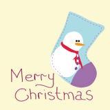 Carte de voeux avec Noël Photographie stock libre de droits