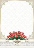 Carte de voeux avec un bouquet des roses Photos libres de droits