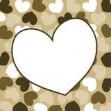 Carte de jour de valentines de cadre de coeur Photos stock