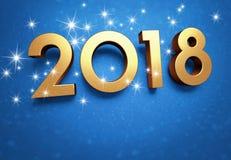 Carte de voeux 2018 de bonne année Images libres de droits