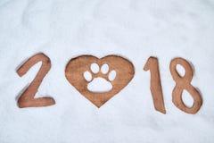 Carte de voeux 2018 de bonne année Image libre de droits