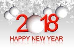 Carte de voeux 2018 de bonne année illustration libre de droits