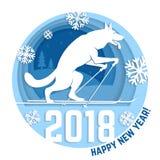 Carte de voeux de 2018 bonnes années illustration libre de droits