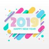 Carte de voeux de 2019 bonnes années Photos libres de droits