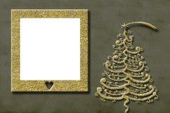 Carte de voeux de cadre de photo de Noël Photographie stock libre de droits