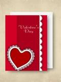 Carte de voeux, chèque-cadeau ou fond heureux de jour de Valentines. Photos libres de droits