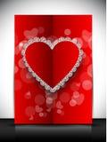 Carte de voeux, chèque-cadeau ou fond heureux de jour de Valentines. ENV Photos stock