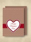 Carte de voeux, chèque-cadeau ou fond heureux de jour de Valentines. ENV Images stock